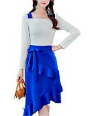 povoljno Odjeća za trbušni ples-Žene Osnovni Korice Haljina - Mašna, Color block Do koljena