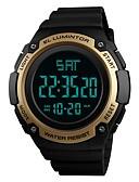رخيصةأون ساعات جيش-SKMEI للرجال ساعة رياضية ساعة رقمية رقمي 50 m مقاوم للماء رزنامه الكرونوغراف PU فرقة رقمي كاجوال موضة أسود / أخضر / قرنفلي - أخضر أزرق ذهبي / ساعة التوقف / قضية