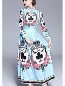 tanie Sukienki-Damskie Sukienka swingowa Sukienka - Geometryczny Maxi