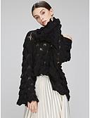 ieftine Print Dresses-Pentru femei De Bază Ieșire Manșon Lung Larg Plover - Mată De Pe Umăr / Primăvară / Toamnă