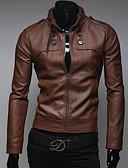 זול גברים-ג'קטים ומעילים-אחיד בסיסי ז'קטים מעור - בגדי ריקוד גברים