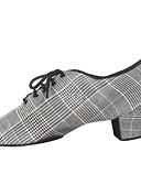 ieftine Tricou Bărbați-Bărbați Pantofi Jazz Sintetice Oxford Grosime călcâială Pantofi de dans Gri Deschis