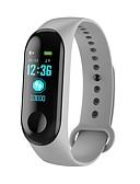 povoljno Muški satovi-m3c pametni sat BT 4.0 fitness tracker podrška obavijestiti i monitor otkucaja srca vodootporan narukvicu za Android i ios