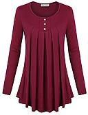 ieftine Tricou-Pentru femei Tricou De Bază - Mată Plisată
