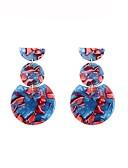זול 2017ביקיני ובגדי ים-בגדי ריקוד נשים מסוגנן עגילי טיפה - גאומטרי כחול עבור מתנה יומי