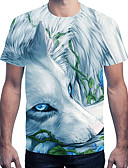 ieftine Maieu & Tricouri Bărbați-Bărbați Tricou Animal Imprimeu