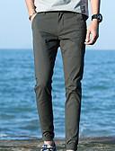 abordables Pantalones y Shorts de Hombre-Hombre Algodón Delgado Chinos Pantalones - Un Color