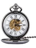 abordables Relojes de Lujo-Hombre Reloj de Bolsillo Cuerda Automática Huecograbado Reloj Casual Calavera Aleación Banda Analógico Calavera Moda Negro - Negro