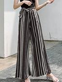 baratos Blusas Femininas-Mulheres Tamanhos Grandes Delgado Perna larga Calças - Estampa Colorida / Para Noite
