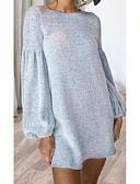 cheap Sweater Dresses-Women's Daily Basic A Line Dress Black Wine Light gray M L XL