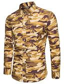 billige Romantiske blonder-Skjorte Herre - Kamuflasje, Trykt mønster Grunnleggende / Gatemote
