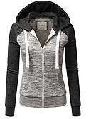 cheap Women's Hoodies & Sweatshirts-Women's Going out Hoodie - Color Block
