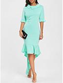 povoljno Ženske haljine-Žene Elegantno Sirena kroj Haljina Jednobojni Asimetričan
