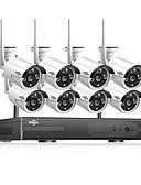 hesapli ipad kılıfı-hiseeu® 1080p kablosuz cctv sistemi hdd 2mp 8ch güçlü nvr ip ir-cut cctv kamera ip güvenlik sistemi gözetim kitleri gündüz ve gece uzaktan görüntüleme