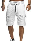 povoljno Muške duge i kratke hlače-Muškarci Pamuk Kratke hlače Hlače Jednobojni