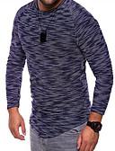 お買い得  メンズパンツ&ショーツ-男性用 スポーツ プラスサイズ Tシャツ Vネック スリム ソリッド コットン ホワイト XXL / 長袖