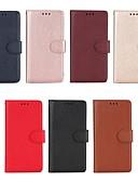 povoljno Maske za mobitele-Θήκη Za Samsung Galaxy S7 edge / S7 / S6 edge Novčanik / Utor za kartice / sa stalkom Korice Jednobojni Tvrdo PU koža
