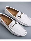 זול מכנסיים ושורטים לגברים-בגדי ריקוד גברים מיקרופייבר אביב יום יומי נעליים ללא שרוכים לבן / שחור