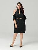 ieftine Dresses For Date-Pentru femei Ieșire Zvelt Teacă Rochie Halter Lungime Genunchi
