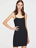 cheap Women's Dresses-Women's Going out Basic Street chic A Line Bodycon Sheath Dress - Solid Color Red, Backless Mini Strap Off Shoulder