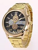 ieftine Ceasuri de Lux-Bărbați Ceas Elegant Ceas de Mână Quartz Model nou Ceas Casual Aliaj Bandă Analog Casual Modă Auriu - Auriu Negru Un an Durată de Viaţă Baterie