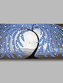 povoljno Haljine za NG-Hang oslikana uljanim bojama Ručno oslikana - Sažetak Cvjetni / Botanički Comtemporary Moderna Uključi Unutarnji okvir / Prošireni platno