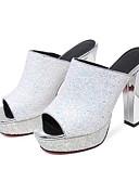 tanie Koszula-Damskie Komfortowe buty Syntetyki Lato Sandały Szpilka Czarny
