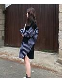billige Kjoler i plusstørrelser-Dame Bomull Løstsittende Bukser Svart / Asymmetrisk