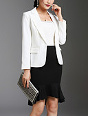 cheap Women's Dresses-Women's Work Blazer-Solid Colored