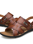 cheap Men's Polos-Men's Comfort Shoes PU(Polyurethane) Summer Casual Sandals Light Brown / Dark Brown