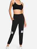 ieftine Pantaloni de Damă-Pentru femei Talie Înaltă Bumbac Pantaloni Chinos Pantaloni Bloc Culoare