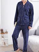 tanie Męskie spodnie i szorty-Męskie Kwadratowy dekolt Garnitury Piżama Geometric Shape