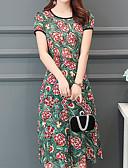 tanie Sukienki-Damskie Szczupła Pochwa Sukienka Dekolt w kształcie litery U Midi