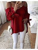 ieftine Tricou-Pentru femei Tricou De Bază - Mată Fără Spate / Cu Șiret