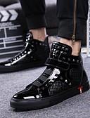 povoljno Ženske kaputi od kože i umjetne kože-Muškarci Cipele za noviteti Koža Jesen / Zima Uglađeni Sneakers Crn / Pink