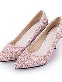 ieftine Rochii de Damă-Pentru femei Pantofi Pumps Imitație Piele / Sintetice Primăvara & toamnă Clasic pantofi de nunta Toc Stilat Vârf ascuțit Paiete Negru / Argintiu / Roz / Nuntă / Party & Seară