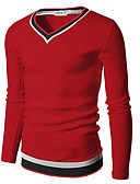 abordables Camisas de Hombre-Hombre Básico Camiseta Un Color