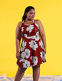זול שמלות נשים-קולר מעל הברך שמלה נדן ליציאה בגדי ריקוד נשים