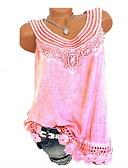 preiswerte T-Shirt-Damen Solide - Grundlegend Übergrössen T-shirt Rosa XXXL / Sommer