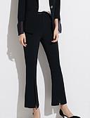 ieftine Pantaloni de Damă-Pentru femei De Bază Bootcut / Pantaloni Chinos Pantaloni Mată