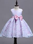 זול שמלות לבנות-שמלה ללא שרוולים פפיון / טלאים טלאים פרפר Party מתוק בנות ילדים