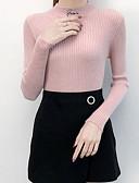 povoljno Ženski džemperi-Žene Dnevno / Izlasci Jednobojni Dugih rukava Slim Regularna Pullover, Dolčevita Blushing Pink / Bež / Svjetlosmeđ S / M / L