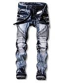 ieftine Pantaloni Bărbați si Pantaloni Scurți-Bărbați Șic Stradă Blugi Pantaloni Bloc Culoare