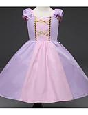 Χαμηλού Κόστους Φορέματα για κορίτσια-Μωρό Κοριτσίστικα Βίντατζ Μονόχρωμο Κοντομάνικο Βαμβάκι / Ακρυλικό Φόρεμα Βυσσινί / Νήπιο