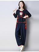 povoljno Ženski dvodijelni kostimi-Žene Set - Cvjetni print Hlače