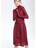 ieftine Curele la Modă-Pentru femei De Bază Tricotaje Rochie Mată Midi
