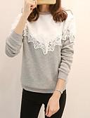 baratos Camisetas Femininas-Mulheres Para Noite Moletom Geométrica / Estampa Colorida