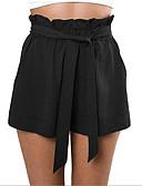 preiswerte Badebekleidung in Übergröße-Damen Baumwolle Kurze Hosen Hose - Solide Weiß