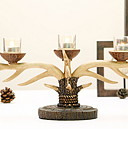 cheap Women's Nightwear-European Style Wooden Candle Holders Candelabra 1pc, Candle / Candle Holder