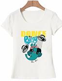 ieftine Tricou-Pentru femei Tricou De Bază - Animal / Scrisă Imprimeu